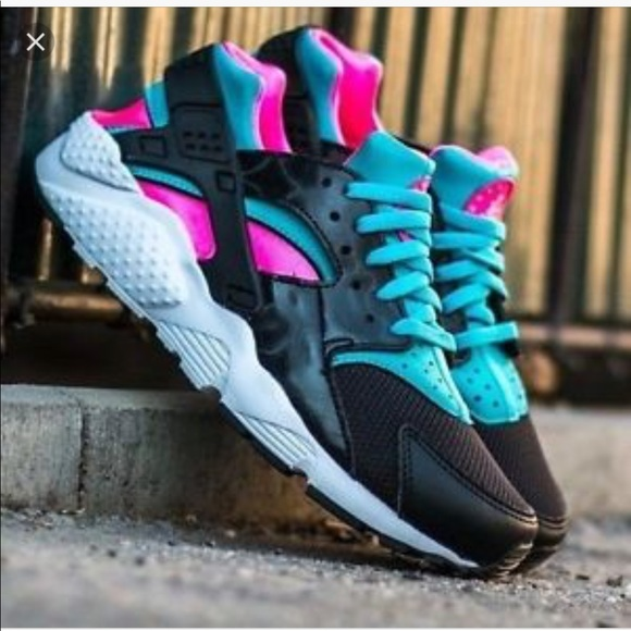 pink and turquoise huaraches off 62